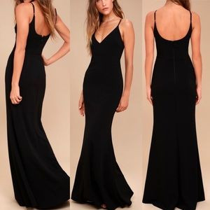 Lulus Infinite Glory Black Dress
